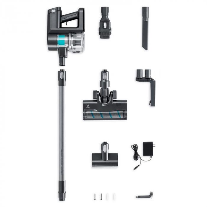 Aspirator vertical wireless Viomi A9,  23000Pa, filtrare ciclonica, 2500mAh, lumini LED, 4 perii, 60 minute autonomie 3