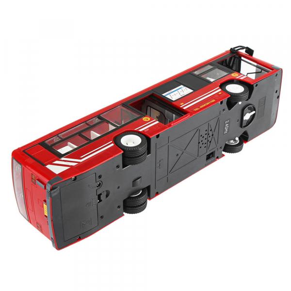 Autobuz RC cu telecomanda Double Eagle, scala 1:20, rosu, 5.5Km/h, lumini fata/spate, sunete demo, usi automate 2