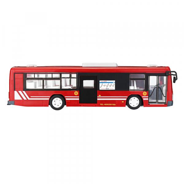 Autobuz RC cu telecomanda Double Eagle, scala 1:20, rosu, 5.5Km/h, lumini fata/spate, sunete demo, usi automate 3