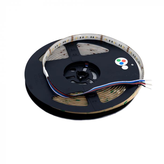 Banda LED Aqara 5M RGBW, 16 milioane culori, 12V, SMD 5050, IP65, 1100 lumeni/metru, 1A/m 2