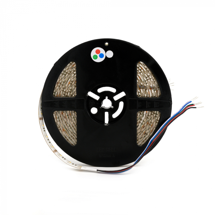 Banda LED Aqara 5M RGBW, 16 milioane culori, 12V, SMD 5050, IP65, 1100 lumeni/metru, 1A/m 3