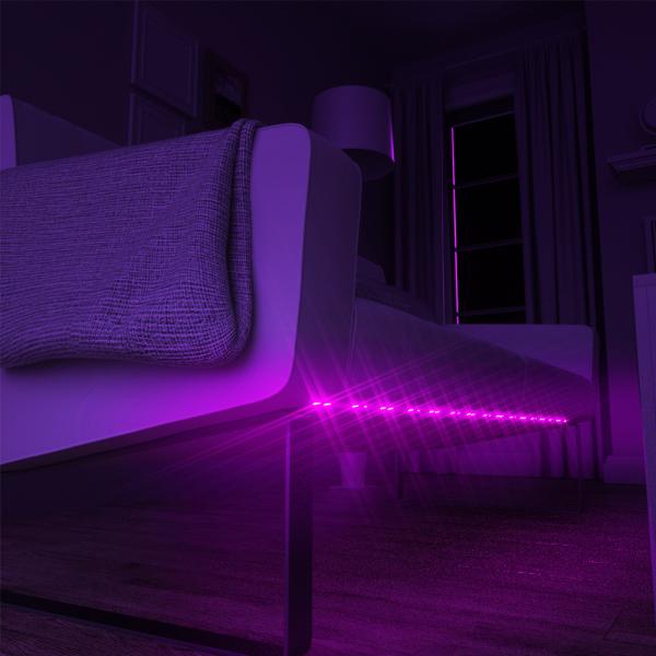 Banda LED RGBW Blitzwolf smart, Wi-Fi, 1250 lumeni, 16 mil culori, IP44, compatibila Google & Alexa, 5 metri 7