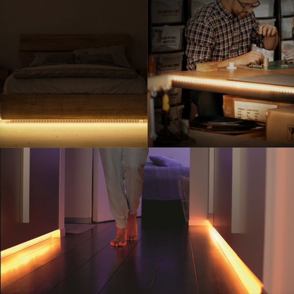 Banda LED RGBW Blitzwolf smart, Wi-Fi, 1250 lumeni, 16 mil culori, IP44, compatibila Google & Alexa, 5 metri 6