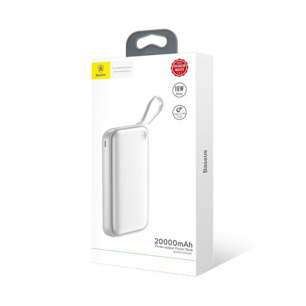 Power Bank Baseus Powerful 20000 mAh, 2 x USB Quick Charge 3.0, Type-C PD, Micro USB, incarcare simultana tripla 3