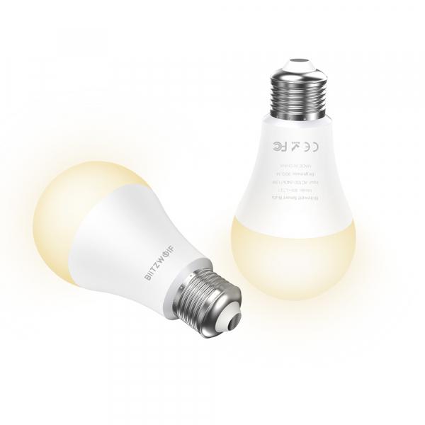 Bec LED Blitzwolf RGBW, 10W, WiFi 2.4Ghz, 16mil culori, 900 lumeni, ecosistem Smart Life, compatibil Google & Alexa 0