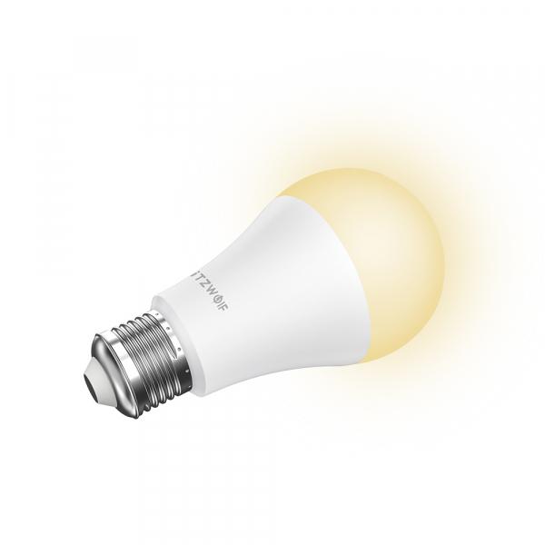 Bec LED Blitzwolf RGBW, 10W, WiFi 2.4Ghz, 16mil culori, 900 lumeni, ecosistem Smart Life, compatibil Google & Alexa 2
