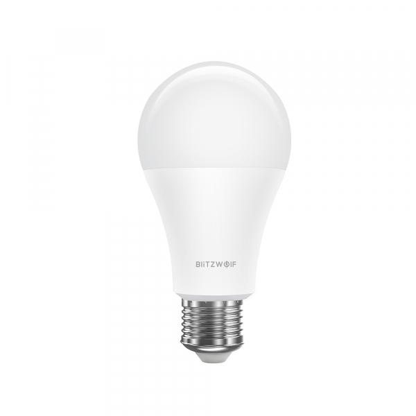 Bec LED Blitzwolf RGBW, 10W, WiFi 2.4Ghz, 16mil culori, 900 lumeni, ecosistem Smart Life, compatibil Google & Alexa 3