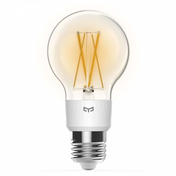Bec LED smart Yeelight filament, Wi-Fi, control de la distanta, 700 lm, compatibil Google, Homekit, SmartThings 1
