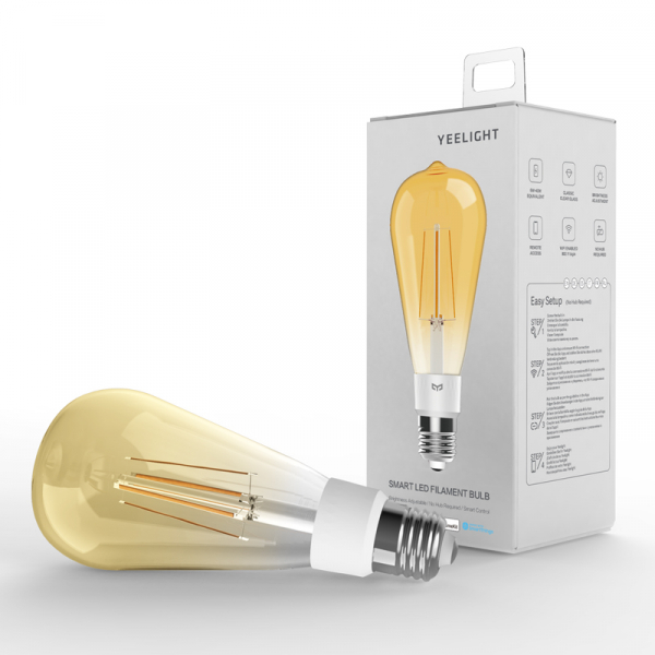 Bec LED smart Yeelight Filament ST64 vintage 2700K, 500 lumeni, compatibil Google, Alexa, Homekit, IFTTT, SmartThings 5