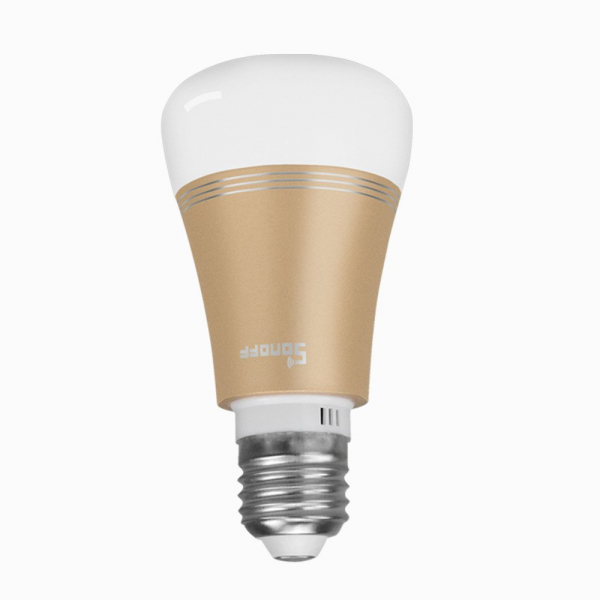 Bec LED smart Sonoff B1 Gold, Wi-Fi, RGB+W, 600lm, E27, 6 watt, compatibil Alexa, Google Home, IFTTT 1
