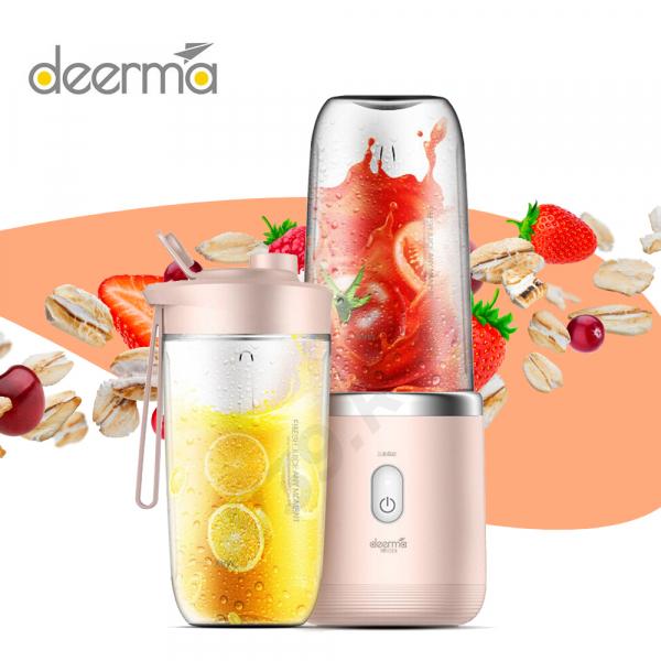 Blender portabil Deerma, 140W, baterie 1500mAh, 400ml, motor cu 21000 rpm, pana la 15 zile autonomie [0]