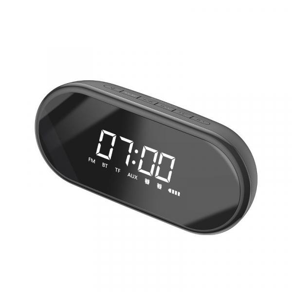 Boxa wireless afisaj LED Baseus Encok E09 cu ceas, radio si lumina de noapte, bluetooth 4.2, jack 3.5mm, microSD 0