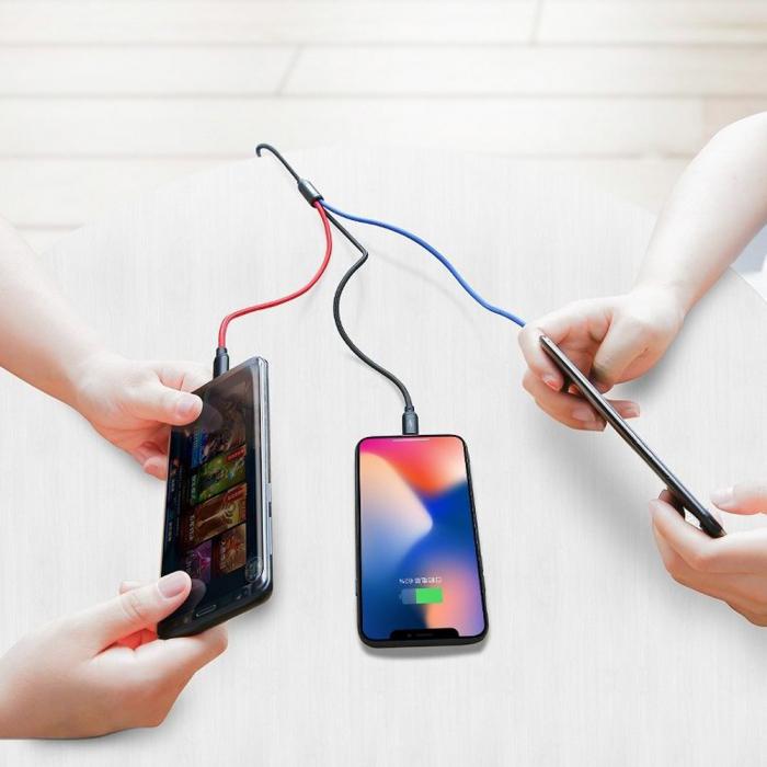 Cablu Baseus Rapid 3 in 1 USB-C, lightning, micro-USB 3A, 1.2M, negru [1]