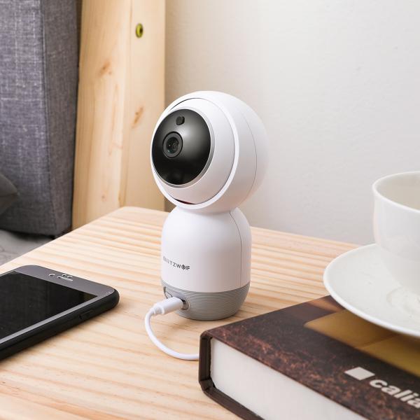 Camera IP smart Blitzwolf PTZ 355°, resigilata 1080P, WiFi, IR, motion tracking, compatibila ecosistem Smart Life 3