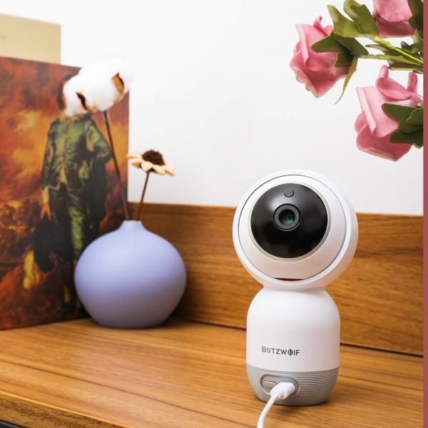 Camera IP smart Blitzwolf PTZ 355°, 1080P, WiFi, senzor de miscare, motion tracking, compatibila ecosistem Vhub [4]