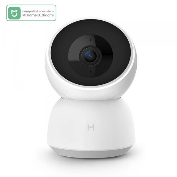 Camera smart Xiaomi Imilab A1, versiune EU, resigilata, 360°, 2K, WiFi, baby monitor, detectare planset bebelusi, motion tracking, H.265 0