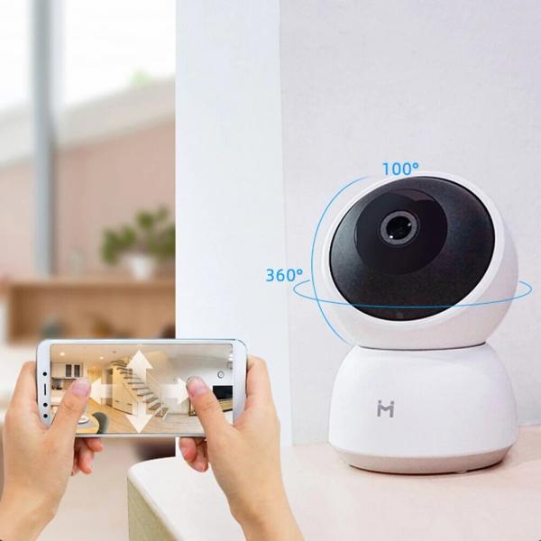 Camera smart Xiaomi Imilab A1, 360°, 2K, WiFi, baby monitor, detectare planset bebelusi, motion tracking, H.265, versiunea EU 2