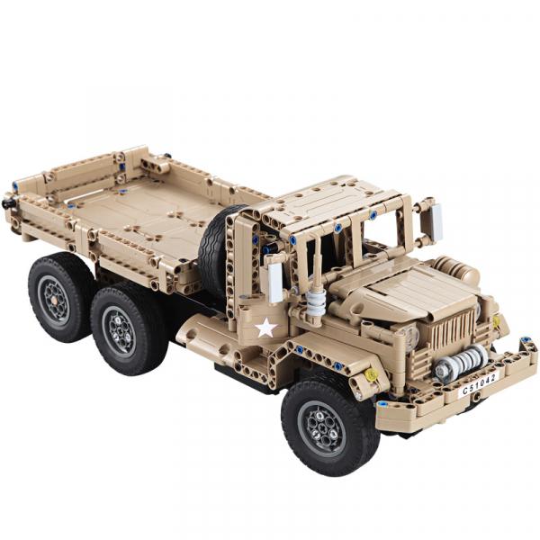 Set constructie Camion militar cu telecomanda Double Eagle, 2.4 GHz, 545 piese compatibile LEGO, 400mAh 0