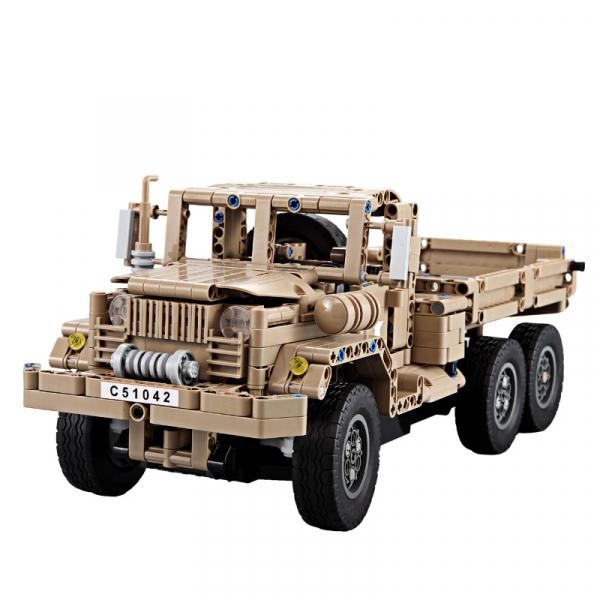 Set constructie Camion militar cu telecomanda Double Eagle, 2.4 GHz, 545 piese compatibile LEGO, 400mAh 1