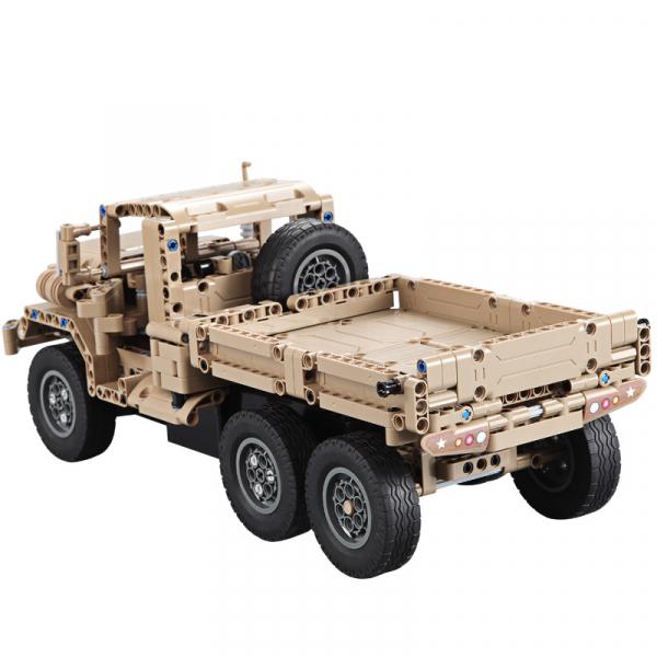 Set constructie Camion militar cu telecomanda Double Eagle, 2.4 GHz, 545 piese compatibile LEGO, 400mAh 2