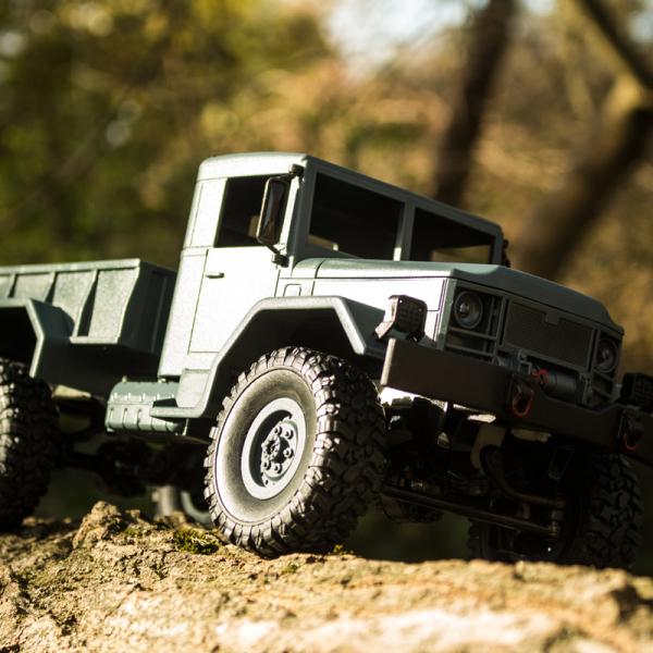 Camion militar RC cu telecomanda Funtek CR4, 1:16, 4WD, green, 700 mAh, lumini LED, sarcina maxima 3kg 3