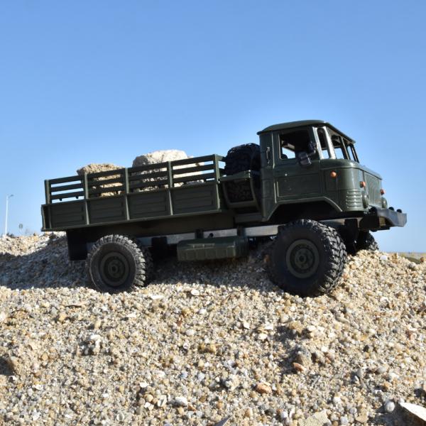 Camion militar cu telecomanda Funtek PR4, tractiune 4x4, 1:16, lumini LED, 25min autonomie, sarcina max 3kg [2]