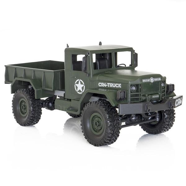 Camion militar RC cu telecomanda Funtek CR4, 1:16, 4WD, green, 700 mAh, lumini LED, sarcina maxima 3kg 5