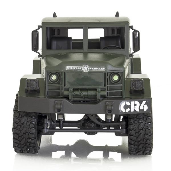 Camion militar RC cu telecomanda Funtek CR4, 1:16, 4WD, green, 700 mAh, lumini LED, sarcina maxima 3kg 1
