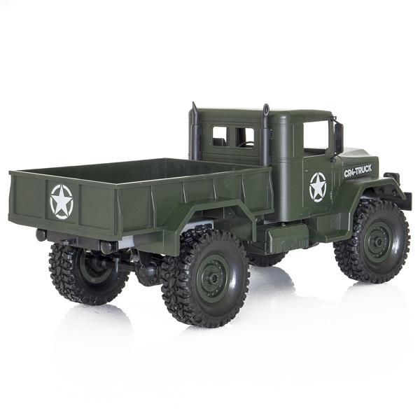 Camion militar RC cu telecomanda Funtek CR4, 1:16, 4WD, green, 700 mAh, lumini LED, sarcina maxima 3kg 2