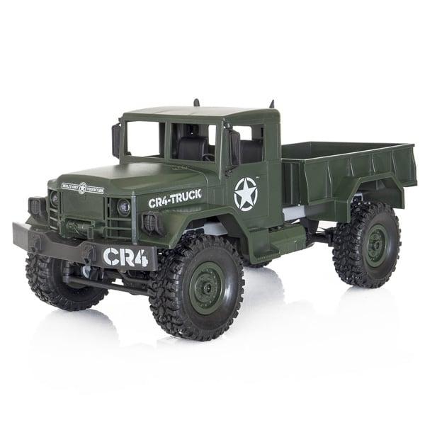 Camion militar RC cu telecomanda Funtek CR4, 1:16, 4WD, green, 700 mAh, lumini LED, sarcina maxima 3kg 0