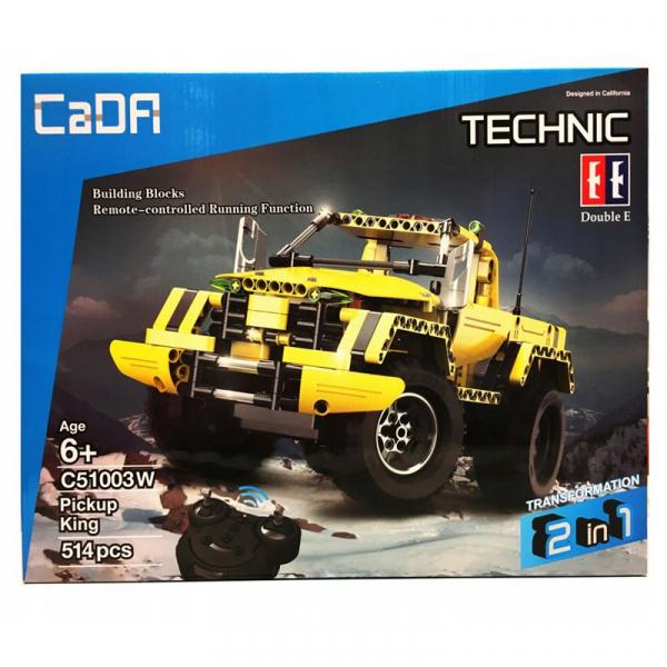 Set constructie camion RC Pickup King Double Eagle, 514 piese, telecomanda inclusa, acumulator inclus 400mAh 1