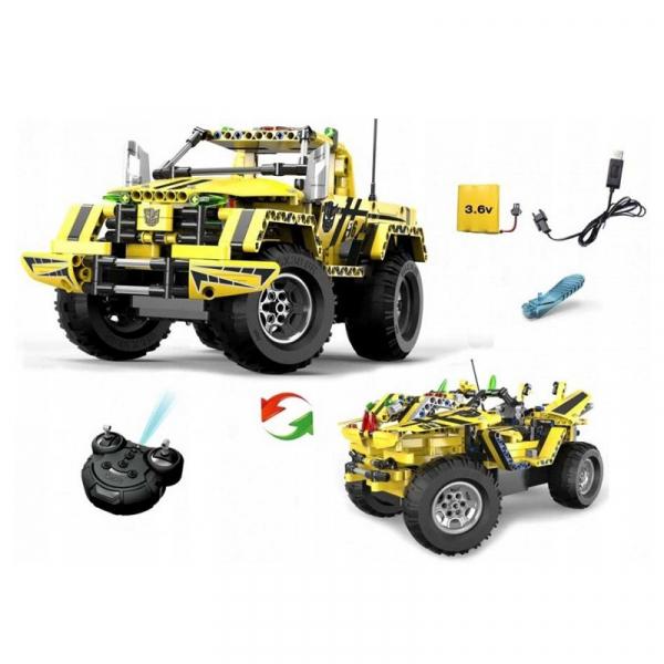 Set constructie camion RC Pickup King Double Eagle, 514 piese, telecomanda inclusa, acumulator inclus 400mAh 2