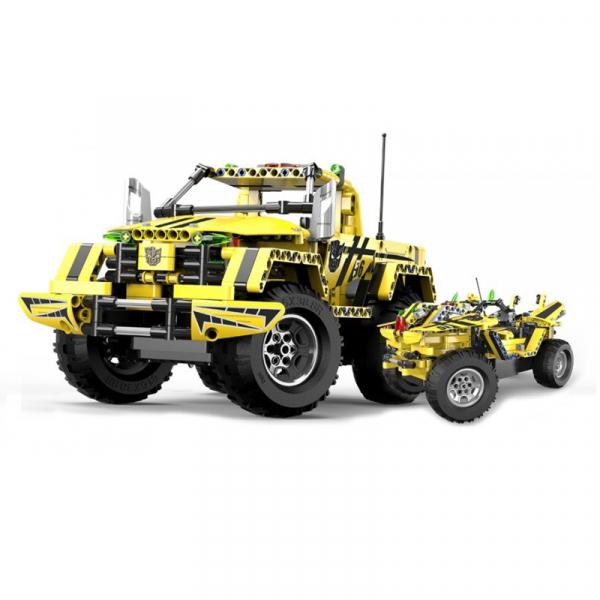 Set constructie camion RC Pickup King Double Eagle, 514 piese, telecomanda inclusa, acumulator inclus 400mAh 4