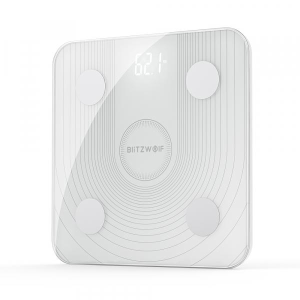 Cantar smart Blitzwolf body fat scale BW-SC1, Wi-Fi 2.4Ghz, masurare 13 date corporale, display LED, aplicatie iOS & Android, resigilat [0]
