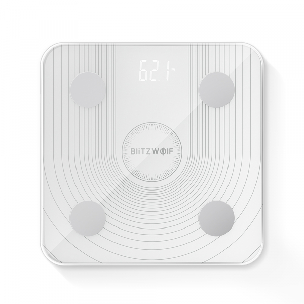 Cantar smart Blitzwolf body fat scale BW-SC1, Wi-Fi 2.4Ghz, masurare 13 date corporale, display LED, aplicatie iOS & Android 1