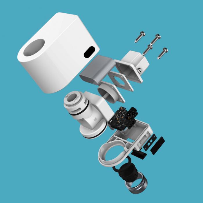 Cap robinet economizor apa Xiaomi Xiaoda, 2 senzori activare incorporati, IPX6, 6 adaptoare incluse 4