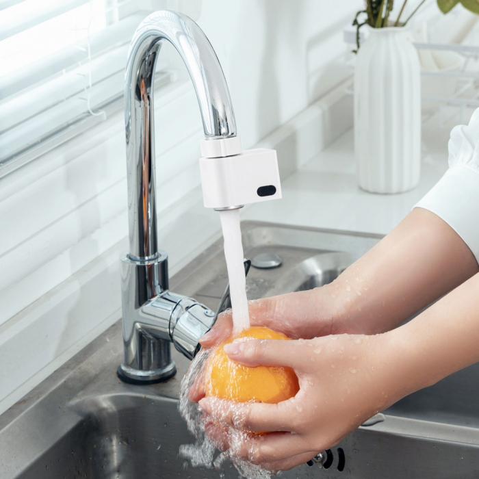 Cap robinet economizor apa Xiaomi Xiaoda, 2 senzori activare incorporati, IPX6, 6 adaptoare incluse [1]