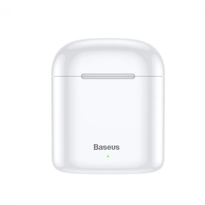 Casti wireless Baseus Encok TWS W09, bluetooth 5.0, tehnologie DSP, design ergonomic, dock 450 mAh, albe [2]