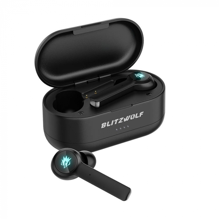 Casti gaming Blitzwolf BW-FLB2 TWS, bluetooth 5.0, IPX 4, virtual surround, DSP Noise cancellation, Negre 2