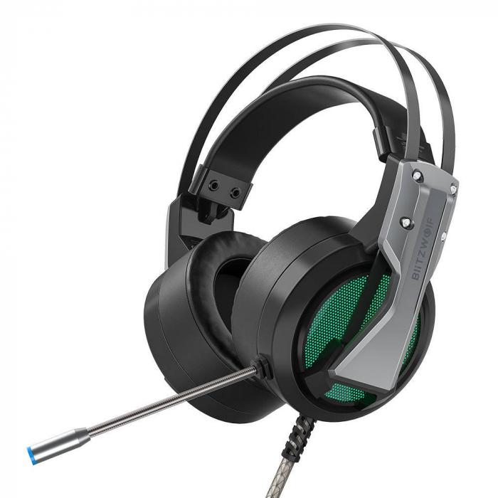 Casti gaming  BlitzWolf BW-GH1 cu sunet Surround 7.1, lumina LED RGB, izolare fonica, structura ergonomica si design elegant [0]