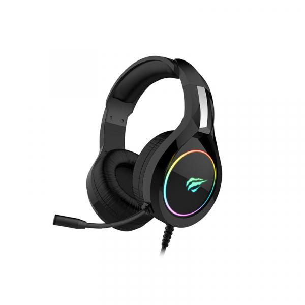 Casti gaming Havit GAMENOTE H2232D, RGB, microfon, ergonomice, senzitivitate 109 dB, 3.5mm + USB 0