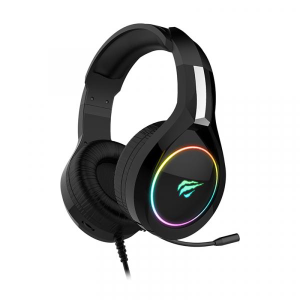 Casti gaming Havit GAMENOTE H2232D, RGB, microfon, ergonomice, senzitivitate 109 dB, 3.5mm + USB 2