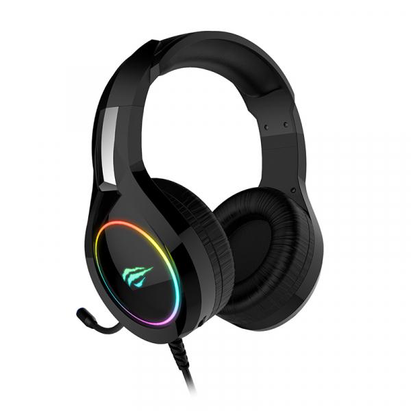 Casti gaming Havit GAMENOTE H2232D, RGB, microfon, ergonomice, senzitivitate 109 dB, 3.5mm + USB 3