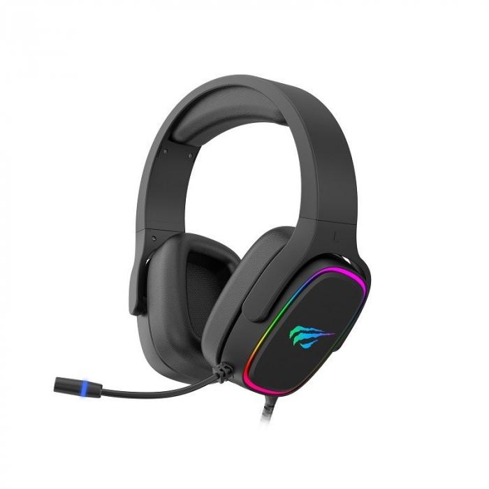 Casti gaming Havit H2029U, lumina RGB, sunet 3D, microfon incorporat, USB 7.1, 50mm diafragma [1]