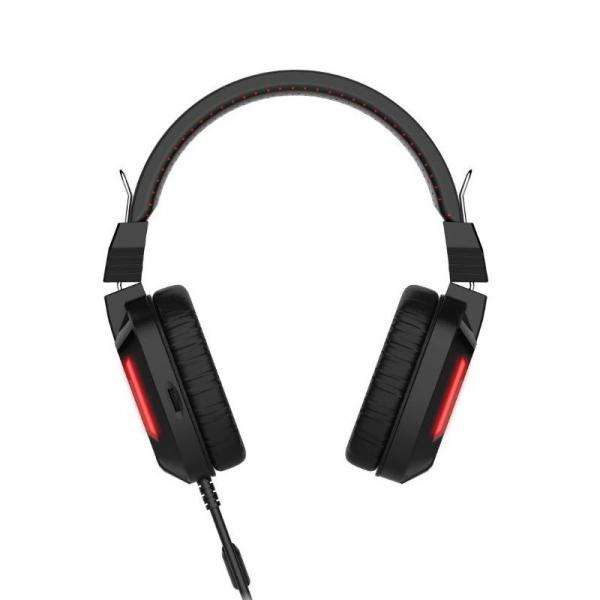 Casti Gaming Havit GAMENOTE H2168D, USB + 3.5mm, microfon 6.0 ajustabil, 105 dB, backlight, negre 4