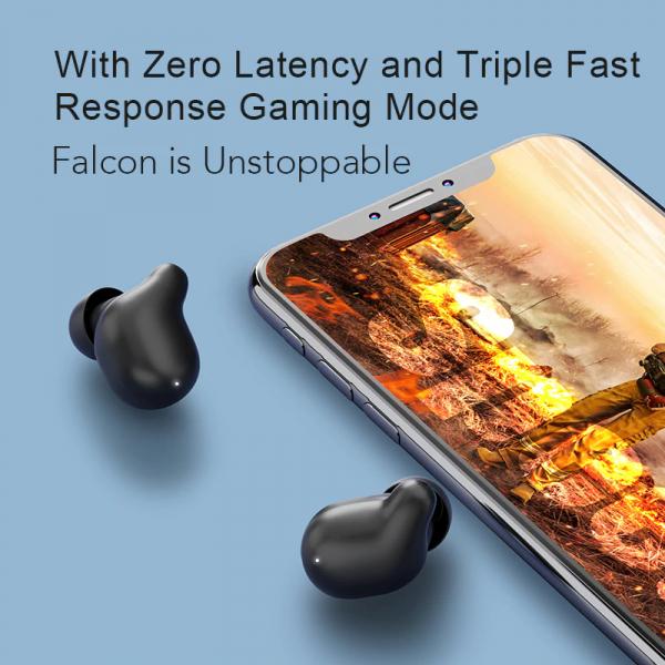 Casti Xiaomi TWS Haylou T15 Falcon, Bluetooth 5.0, powerbank-dock 2200mAh, touch control, IPX5, AAC, DSP, Negru 2