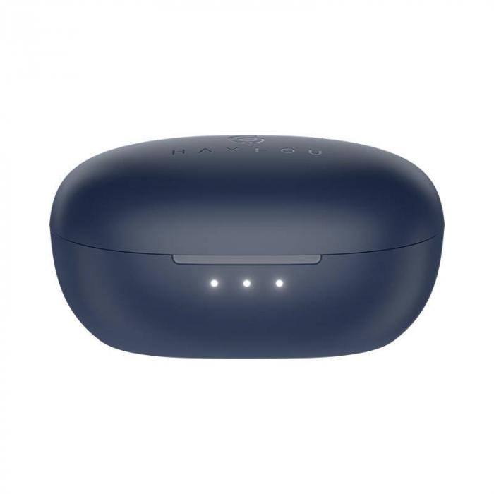 Casti premium wireless Haylou W1 TWS model 2021, Bluetooth 5.2, drivere dinamice Knowles, touch control, aptX adaptive, SBC, AAC, albastru [4]