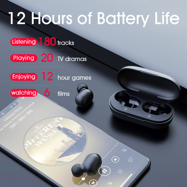 Casti TWS Haylou GT1, bluetooth 5.0, touch control, DSP noise cancelling, waterproof IPX5, AAC & SBC, negre 4