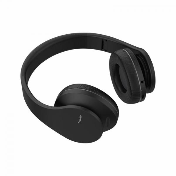 Casti bluetooth on-ear Havit I66, foldable design, wireless, AUX, Micro SD, 230mAh 6 ore autonomie 1