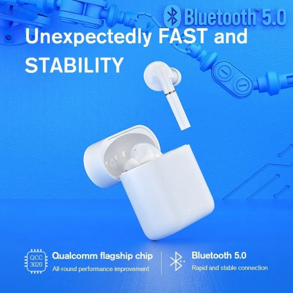 Casti wireless TWS Xiaomi Haylou T19, Qualcomm QCC3020 AptX + AAC, bluetooth 5.0, senzor infrarosu, incarcare wireless, varianta EU 3